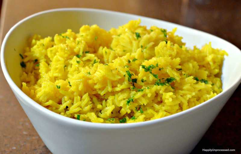 Easy Yellow Rice Happily Unprocessed
