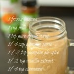 Pumpkin Pie Spice Smoothie