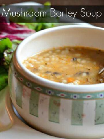mushroom barley soup 360x480 - Mushroom Barley Soup