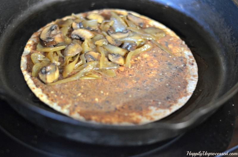 spinach-mushroom-carmelized-onion-quesadilla