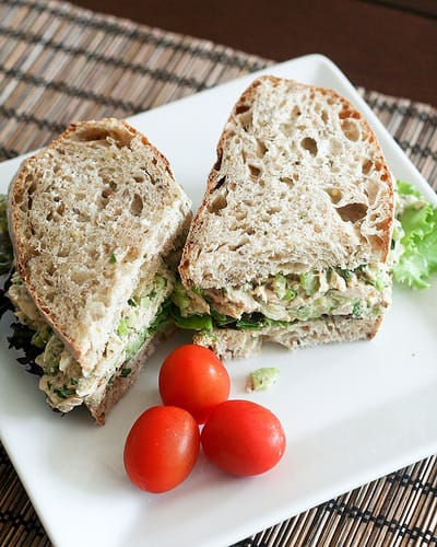5 lunch ideas under 400 calories happily unprocessed for Is tuna fish healthy