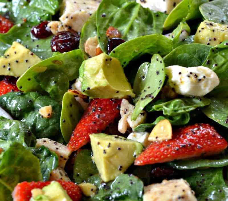 ... poppy seed dressing has orange juice and orange zest in it, so why not