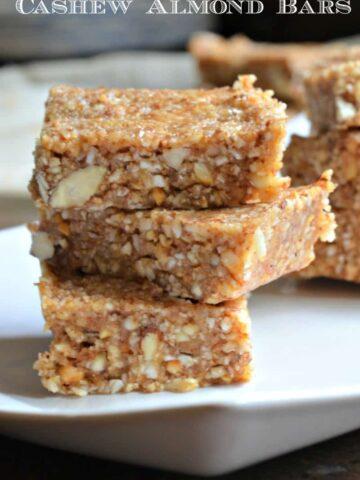 cashew almond bars 1hu 360x480 - Cashew Almond Bars
