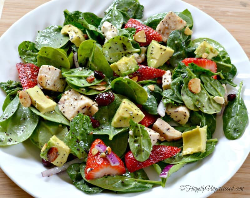strawberry-avocado-chicken-salad-with-poppy-seed-dressing