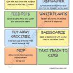 Chore Chart Printables
