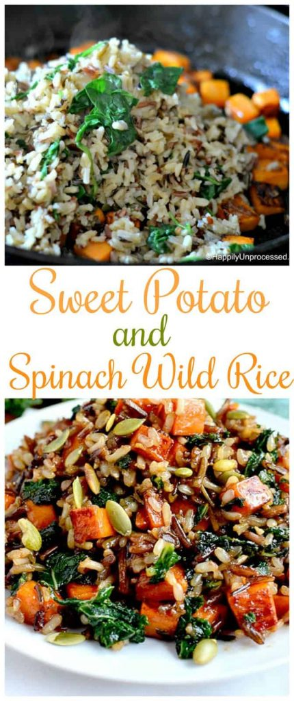 sweet potato spinach and wild rice collage pinterest