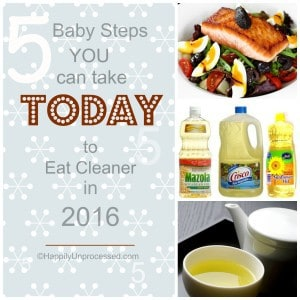 picture collage 5 steps to eating cleaner