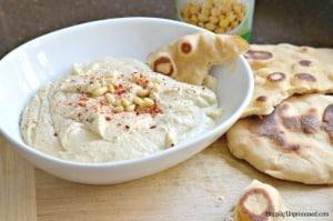 The BEST Garlic Roasted Hummus