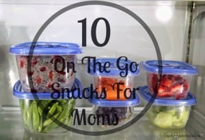 on the go snacks for moms