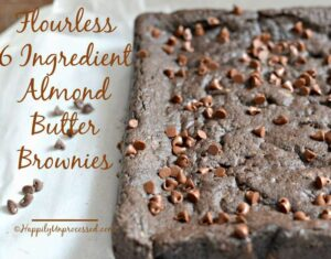 Flourless 6 Ingredient Almond Butter Brownies