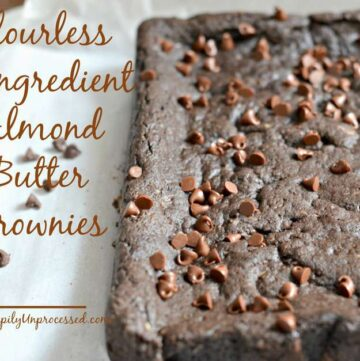 dark chocolate square almond butter gluten free brownies
