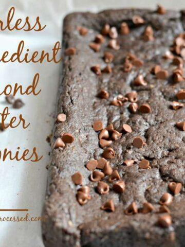 dark chocolate square almond butter gluten free brownies