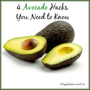 2 avocados 1 cut in half hacking tips