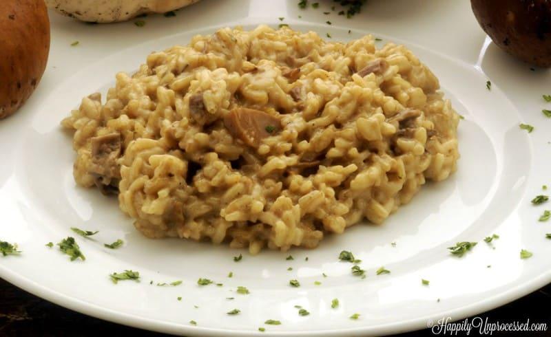 mushroom risotto 1024x627 - Mushroom Risotto (even a Novice can make!)