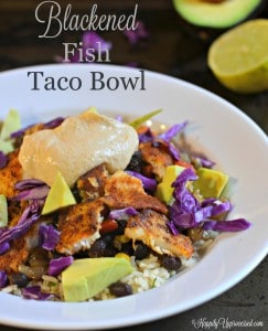 Blackened Fish Taco Bowl
