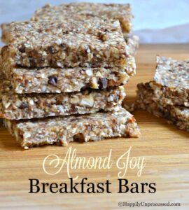 No Bake Almond Joy Breakfast Bars
