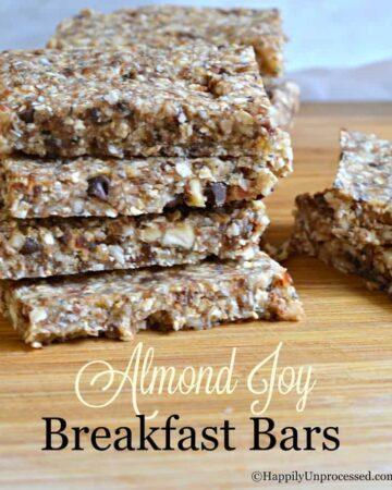 no bake almond joy breakfast bars 360x450 - No Bake Almond Joy Breakfast Bars