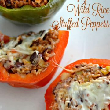 veg stuffed peppers 360x361 - Vegetarian Stuffed Peppers