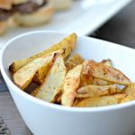 Crispy Baked Garlic & Parmesan Steak Fries