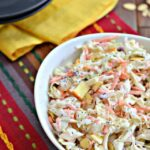 Coleslaw with Apples, Cranberries and Almonds
