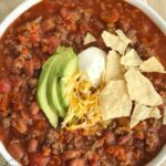 easy simple beef chili 1 150x150 - BEST EVER Meatloaf with a Brown Sugar Honey Whiskey Glaze