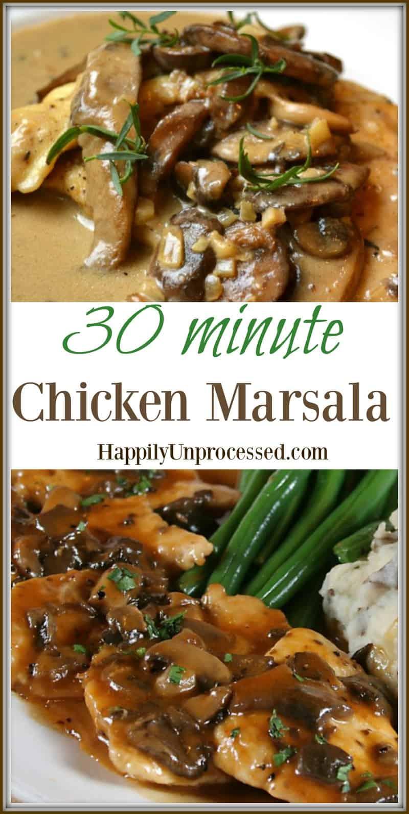 Chicken Marsala Mashed Potatoes