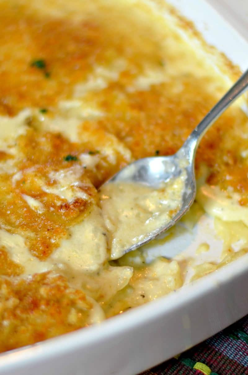 Cheesy Au Gratin Potatoes - Happily Unprocessed