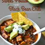 Roasted Sweet Potato and Black Bean Chili
