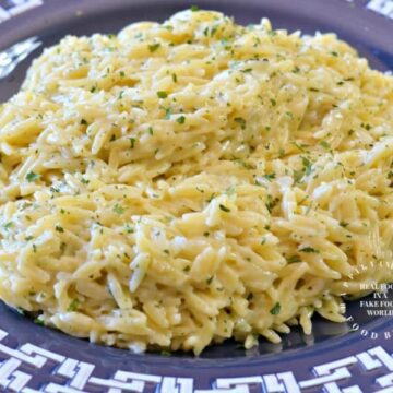 creamy garlic orzologo 360x360 - Creamy Garlic Parmesan Orzo
