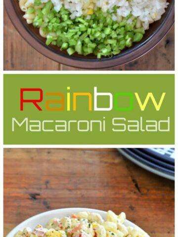 macaronicollage 360x480 - Rainbow Macaroni Salad