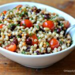 Summer Israeli Couscous with Tomatoes, Cranberries and Basil