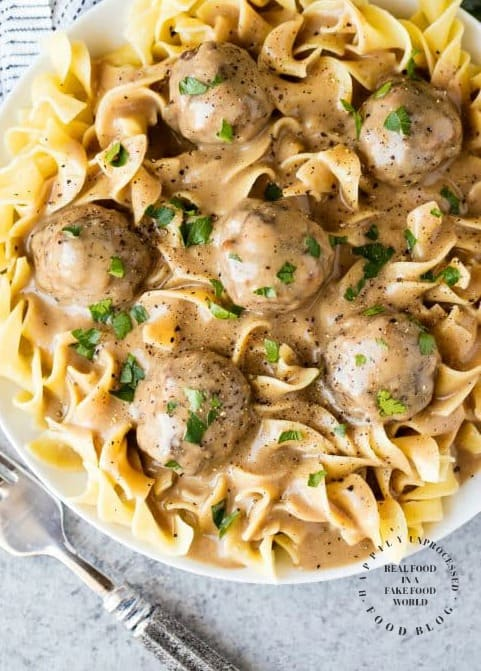 Swedish Meatballs With An Epic Sauce Happily Unprocessed