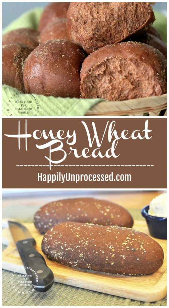 honey wheat bread collage.jpg 562x1024 - Honey Wheat Bread