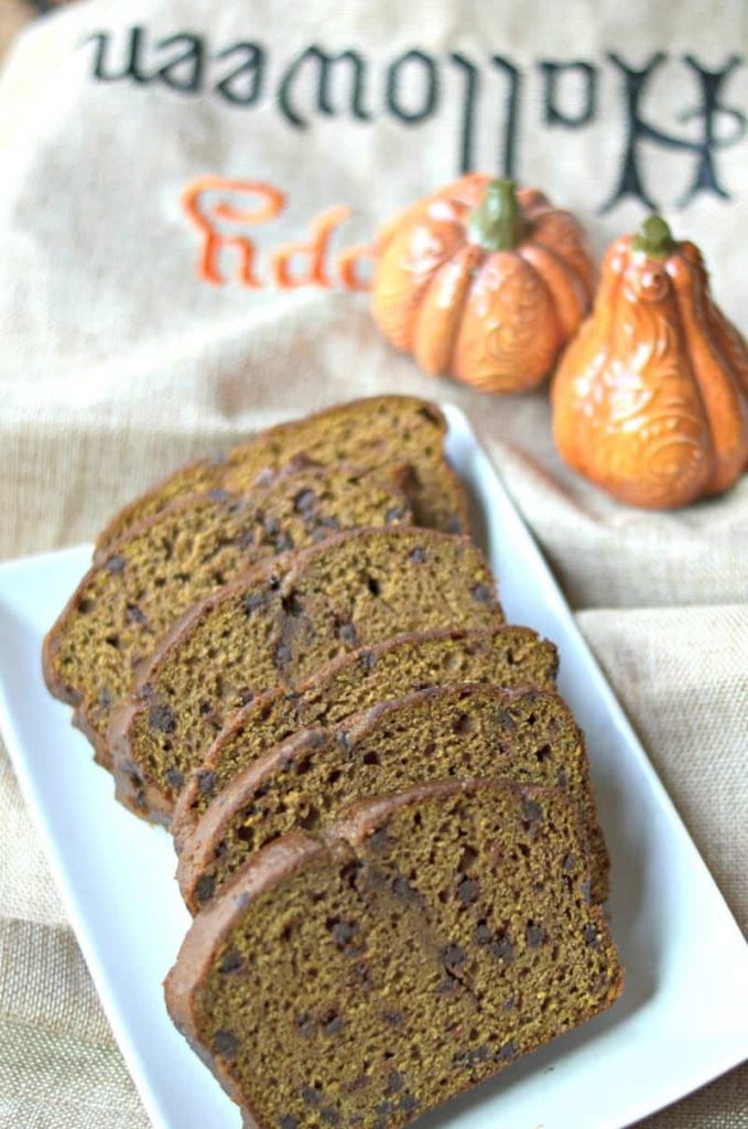 pumpkin bread1a pic.jpg 679x1024 - Whole Wheat Pumpkin Bread w Chocolate Chips