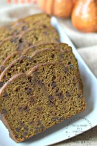 Whole Wheat Pumpkin Bread w Chocolate Chips