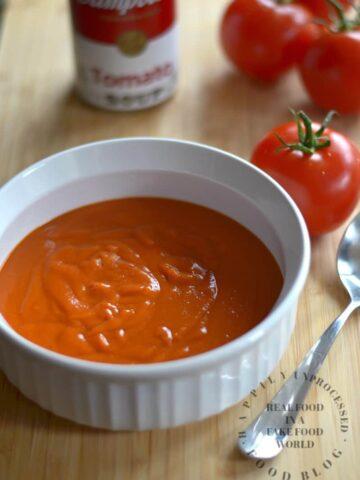 homemade condensed cream tomato soup