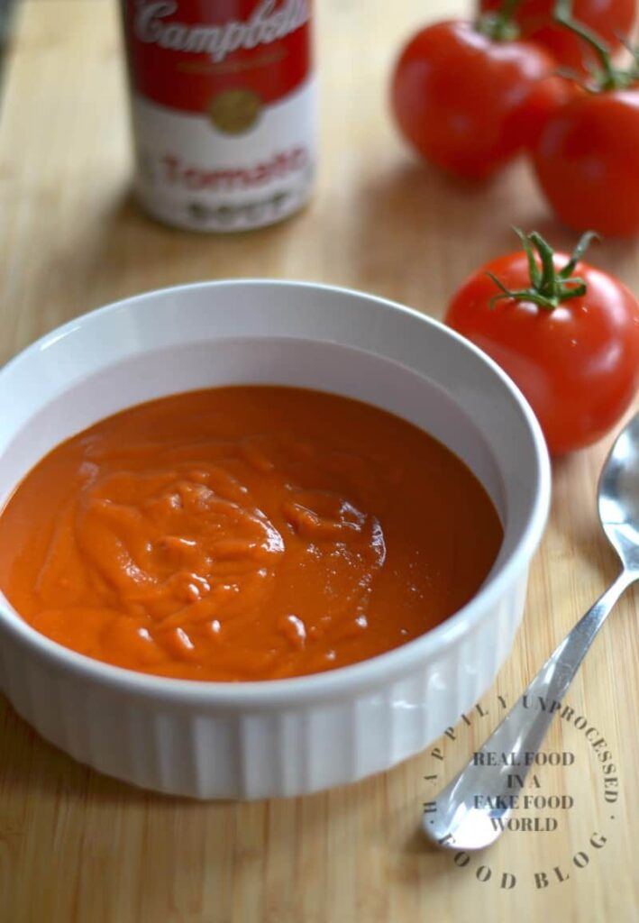 Homemade Condensed Tomato Soup - Happily Unprocessed Cream Of Tomato Soup With Garnish