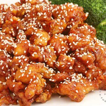 sesame chicken.jpg 360x361 - Sensational Sesame Chicken (30 Minutes~1 Skillet)