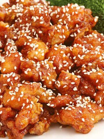 sesame chicken.jpg 360x480 - Sensational Sesame Chicken (30 Minutes~1 Skillet)