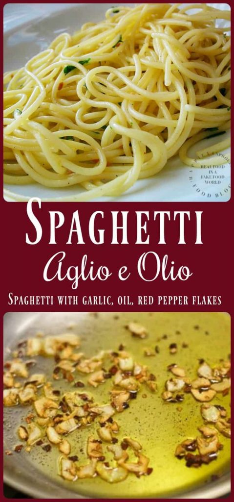 spaghetti aglio e olio collage pinterest