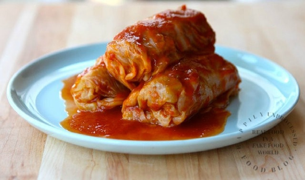 How to make stuffed cabbage with ground beef pork rice onions garlic a traditional Polish dish - Traditional Polish Style Stuffed Cabbage Rolls (no canned soup)