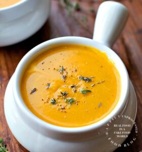 Roasted Butternut, Sweet Potato and Carrot Soup