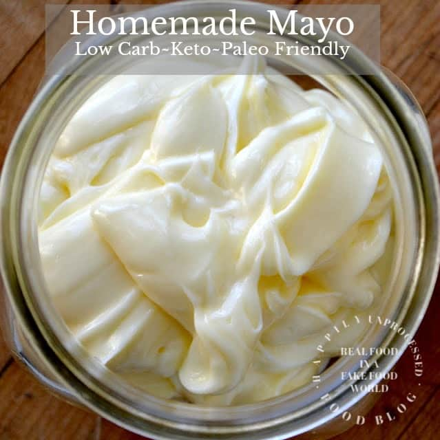 ketogenic and paleo friendly homemade mayonnaise in mason jar