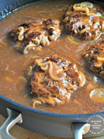 salisbury steak in mushroom gravy no packaged mix 360x480 - Salisbury Steak in Mushroom Gravy from Scratch (with NO gravy mix)