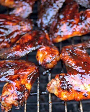 grilled chicken wings with honey chipotle bbq sauce