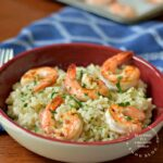 Creamy Parmesan Risotto with Oven Roasted Shrimp