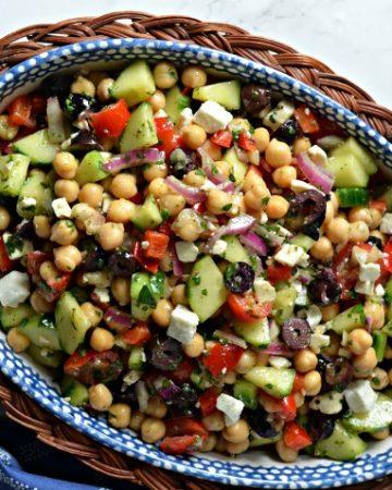 mediterranean chickpea salad featured.jpg 360x450 - Mediterranean Chickpea & Feta Salad