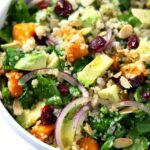 Roasted Sweet Potato, Spinach & Quinoa Summer Salad