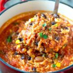 Chicken Tortilla Soup with Rice