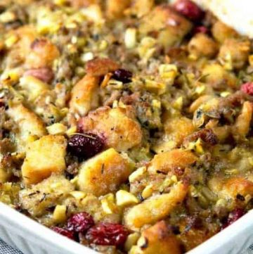 sausage apple cranberry stuffing